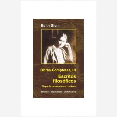 Edith Stein. Obras Completas. III Escritos filosóficos