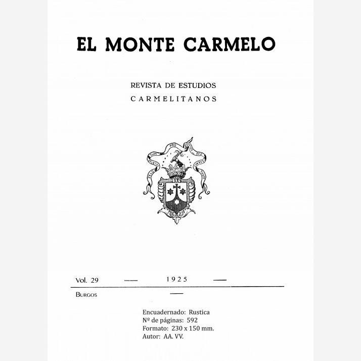 Revista Monte Carmelo - Volumen 29