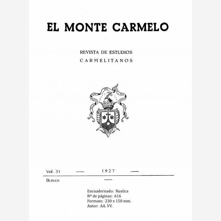 Revista Monte Carmelo - Volumen 31