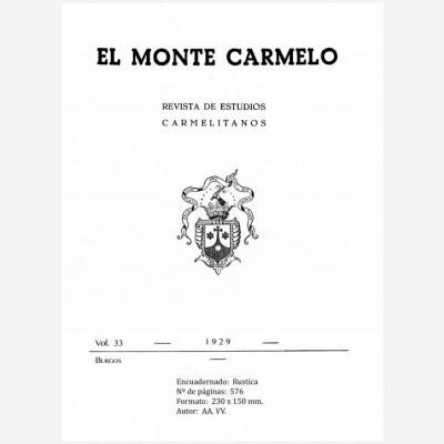 Revista Monte Carmelo - Volumen 33
