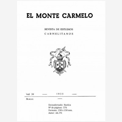 Revista Monte Carmelo - Volumen 39