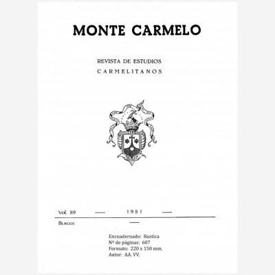 Revista Monte Carmelo - Volumen 89