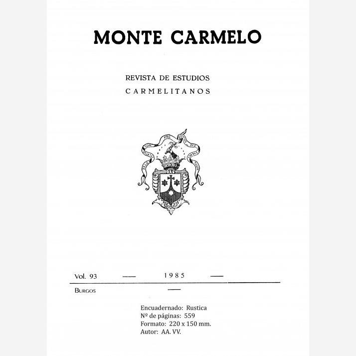 Revista Monte Carmelo - Volumen 93
