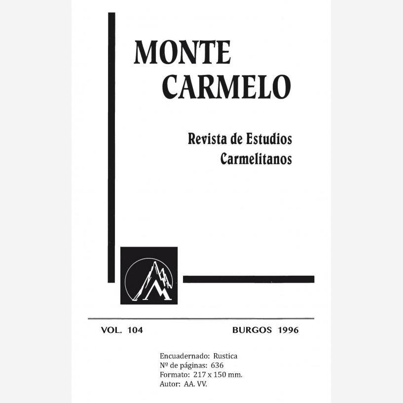 Revista Monte Carmelo - Volumen 104