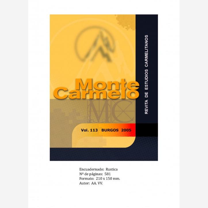 Revista Monte Carmelo - Volumen 113